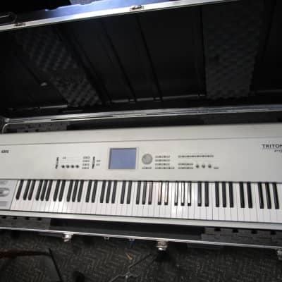 Korg Triton Pro X 88 keyboard piano with case used