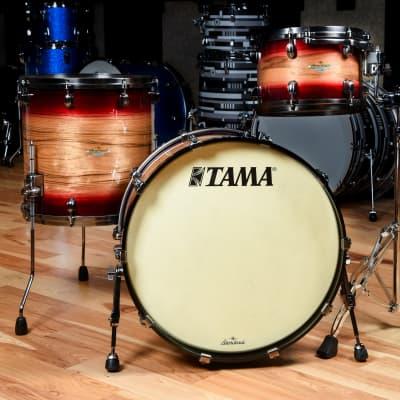 Tama Starclassic 12/16/22 3pc. Maple Exotic Drum Kit Ruby Pacific Walnut Burst w/Smoked Black Nickel Hardware