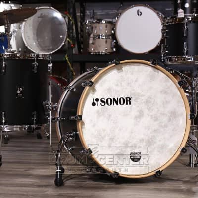 Sonor SQ1 3pc Drum Set 22/12/16 Black w/ Natural Hoops