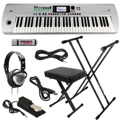 KORG i3 Music Workstation - Matte Silver - Key Essentials Bundle