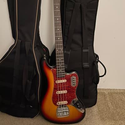 Grass Roots Guitars Jaguar Bass IV 3 Tone Sunburst for sale