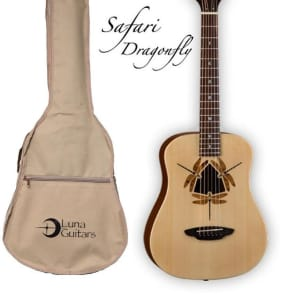 Luna Safari Series Dragonfly 3/4-Size Travel Acoustic Guitar - Natural, SAF DF NAT for sale