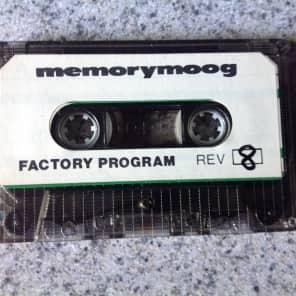Moog Memorymoog Original Factory Program Patch Cassette 1979