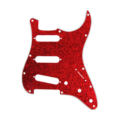 D'Andrea Pro Pickguard Strat Style Red Sparkle - Made in the USA - Free Shipping image