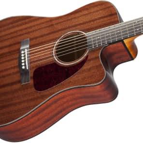 Fender CD-140SCE All-Mahogany Cutaway Dreadnought w/ Electronics Natural