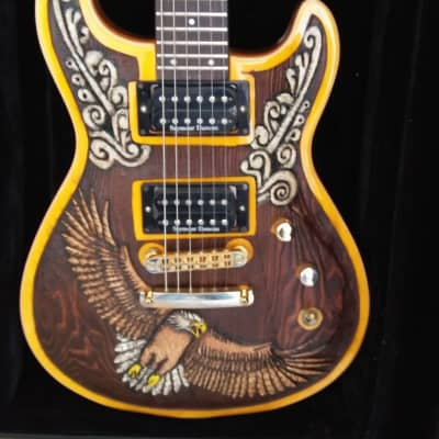 Custom Carved Fernandes Dragonfly guitar for sale
