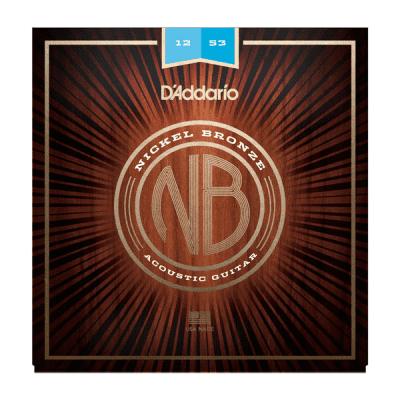 D'Addario NB1253 Nickel Bronze Acoustic Guitar Strings Light 12-53