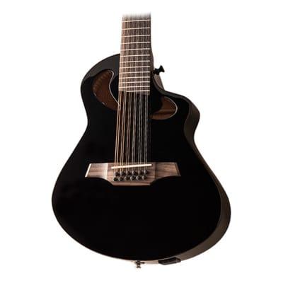 Veillette Avante Series Gryphon 12 String Black w/ Gig Bag for sale