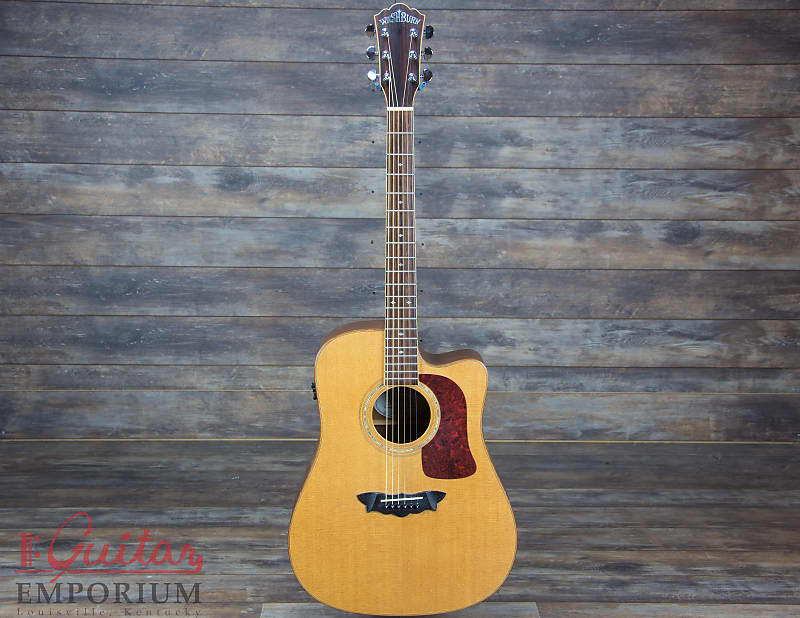 washburn d52swce natural d52 cutaway acoustic electric with reverb. Black Bedroom Furniture Sets. Home Design Ideas