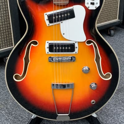 Gruggett Hollowbody Late 60's-early 70's Sunburst for sale