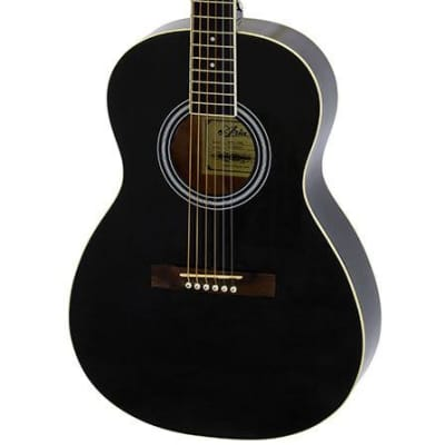 Aria AP-15 Parlour Acoustic Guitar in Black for sale