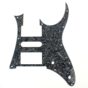 Custom Guitar Pick Guard for Ibanez RG 350 DX ,4ply Black pearloid