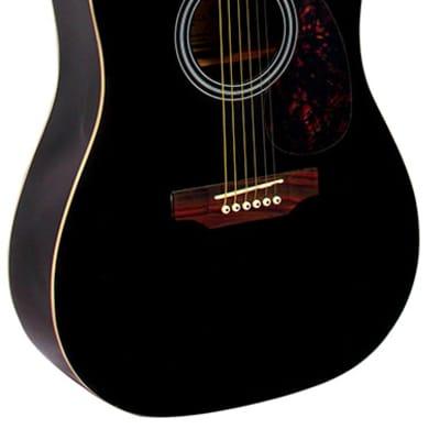 Monterey MW-100 Dreadnought Acoustic Guitar - Black for sale