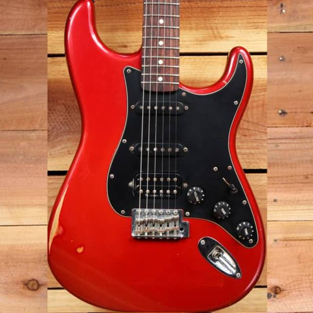FENDER CLASSIC SERIES 60s STRATOCASTER HSS Rare Red Road Worn Strat Relic 4694 image