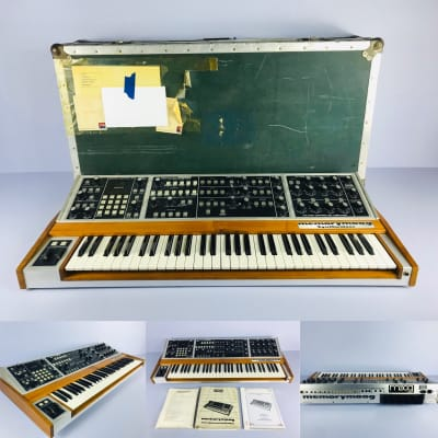 "Vintage Moog Memorymoog Plus LAMM Lintronics Upgrade + Anvil Case + Manuals ""Just Service"""