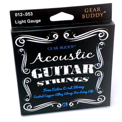 Acoustic Guitar Strings Light Gauge COATED WRAP - Extra High E, 1946