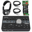 Mackie Big Knob 3 x 2 Studio Monitor Controller + Headphones + Cables Package image