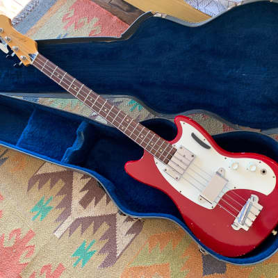 Kalamazoo KB-1 bass guitar Flame Red USA vintage 1966 Original with Case kb1 Gibson for sale