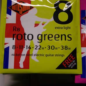 Rotosound R8 Roto Greens Electric Guitar Strings - Extra Light (8-38)