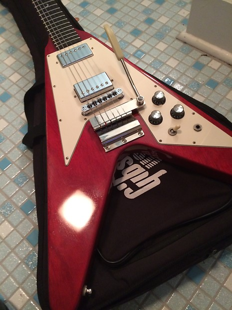 sale gibson flying v with maestro tremolo cherry with reverb. Black Bedroom Furniture Sets. Home Design Ideas