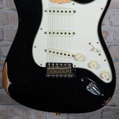 Fender 2018 '68 Relic Aged Stratocaster Black for sale
