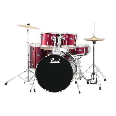 """Pearl RS525SC Roadshow 10 / 12 / 16 / 22 / 14x5.5"""" 5pc Drum Set with Hardware, Cymbals"""