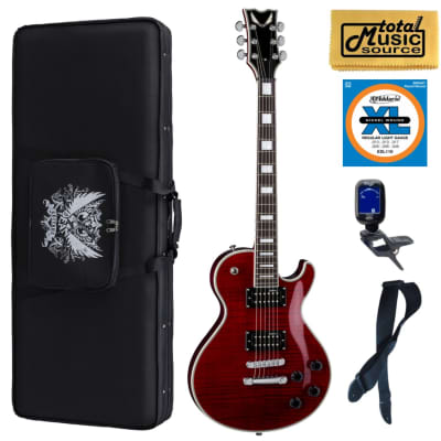 Dean TB DLX SC Thoroughbred Deluxe Scary Cherry Guitar, Soft Case Bundle