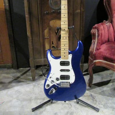 2014 Fender  Standard Stratocaster Left Handed  Blue for sale