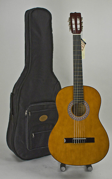 full size acoustic classical guitar with stay in tune nylon reverb. Black Bedroom Furniture Sets. Home Design Ideas
