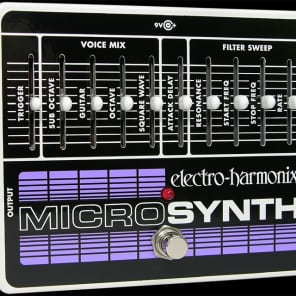 Electro Harmonix Micro Synth Analog Guitar Synth Pedal for sale
