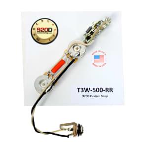 Fender Tele Telecaster 3 Way Wiring Harness 500K Long Shaft Pots - Rear Route