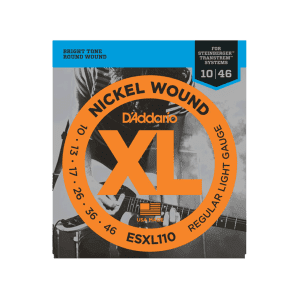 D'Addario ESXL110 Nickel Wound Electric Guitar Strings Regular Light Double Ball End 10-46