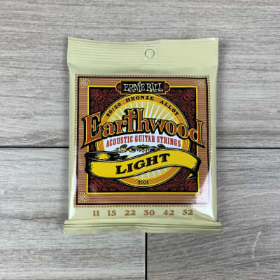 Ernie Ball Earthwood 80/20 Bronze Acoustic Guitar Strings, 11-52, Light