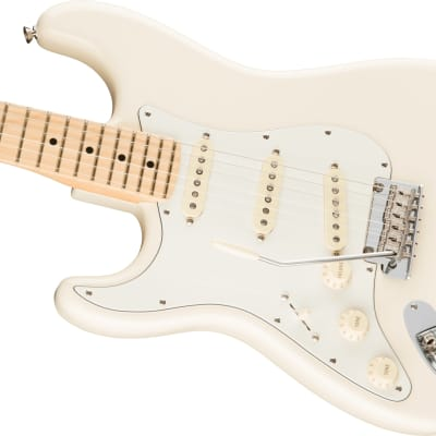 Fender American Pro Stratocaster Left-Hand, Maple Fb, Olympic White for sale