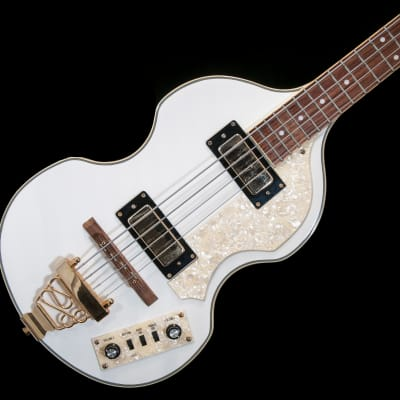 Jay Turser White Hofner Style Bass Guitar for sale
