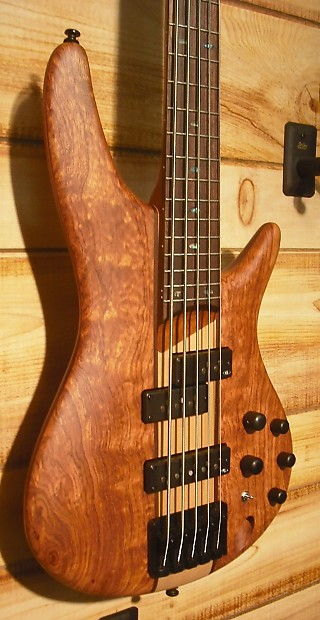 New Ibanez Sr755 5 String Electric Bass Bubinga And Maple Reverb